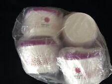 Tupperware Snack Cups Set Mexico 50th Anniversary Logo & Purple Seals New