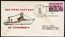 USS STERETT 1939 FIRST NAVY DAY CACHETED COVER