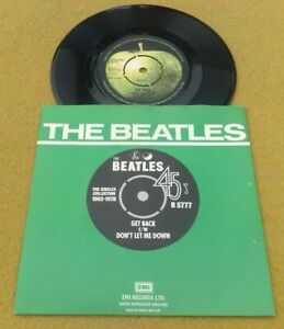 "BEATLES  "" GET BACK ""  SUPER  1976 GREEN SLEEVED RE-ISSUE"