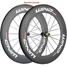 High Quality Carbon Road Bike Wheelset 700C 88mm 23mm/25mm Racing Bicycle Wheels