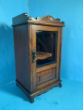 Antique Good Quality Golden Oak Small Smokers Cabinet - FREE POSTAGE-
