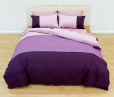 Deco Single Bed Quilt Doona Cover Set Sheffield Plum