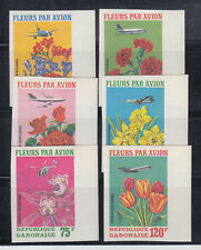 Gabon 1971 Export of Flowers C109-C111 complete MNH IMPERF