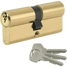 Yale Standard Euro Cylinder Polished Brass 40/50 (90mm overall) 6 Pin Security