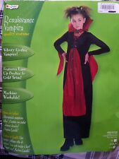Renaissance Vampira Costume Size 7-10