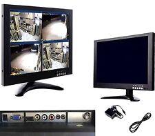 MONITOR PER VIDEOSORVEGLIANZA DA 10'' POLLICI TFT LCD 4 INGRESSI VGA/AV/BNC/HDMI