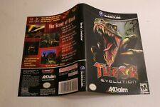 Turok Evolution Gamecube replacement cover art insert only! original