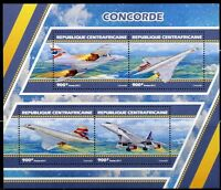 CENTRAL AFRICA 2017 CONCORDE SHEET MINT NH