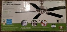 "NEW Hampton Bay AccuBreeze 52"" Energy Star Ceiling Fan Brushed Nickel Finish"