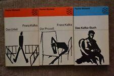 3 antiquarische Bücher von FRANZ KAFKA. Fischer TB von 1952 und 1965