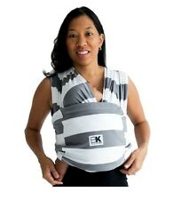 Baby K'tan ORIGINAL,BREEZE,ACTIVE Baby Carrier - Gray & White Stripes Size: XS