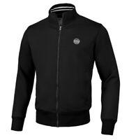 Sweatshirt Mens Bluse Bluza Pit Bull PitBull West Coast ZIP Small Logo Black