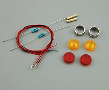 Bausatz Tamiya Truck 1:14 Blinker Seitenblinker Lollipops 2 orange + 2 rot LED