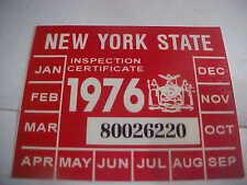 new york 1976 inspection sticker windshild