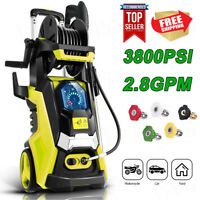 3800PSI 2.8GPM Electric Pressure Washer High Power Cleaner Sprayer 5 Nozzles
