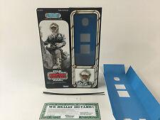 """custom vintage Star wars esb 12"""" Han solo hoth box + inserts"""
