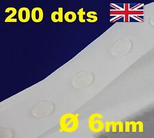 200 Glue Dots Sticky Craft Clear Card Making Scrap Removable 6mm EASY LOW TACK