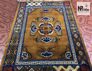 Tibetan Floral Rug Carpet Runner - 100 Knot -  Wool - Handmade - Made to Order