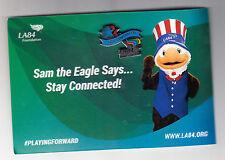 2009 LA84 FOUNDATION 25TH ANNIVERSARY 1984 OLYMPICS PIN OLYMPIC ON CARD W/ SAM
