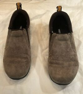 Merrell Mini Moc Brown Suede Size US 13.5 Kids Slip On Jungle Moc Hiking Outdoor