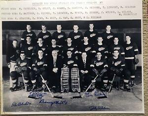 1954-55 Detroit Red Wings Team 16x20 Autographed by 5  Lindsay Alex Delvecchio