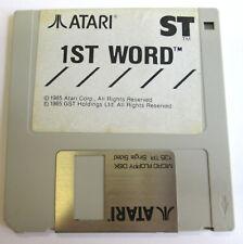 1st WORD Atari Corp. GST Holding 1985 - Logiciel vintage pour ATARI