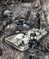 Alien Abduction : Frank R. Paul circa 1930 Archival Quality  Art Print