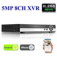 8 Channel 5MP H.265+ XVR 5-in-1 DVR AHD CCTV Surveillance Digital Video Recorder