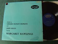 JOHN KEATS & GERARD MANLEY HOPKINS / MARGARET RAWLINGS - LP English ARGO RG 13