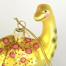 Yellow Dinosaur Kurt Adler Noble Gems Glass Christmas Ornament S23 NEW