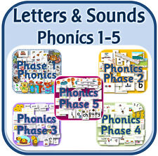PHONICS PHASE 1-5 Letters & Sounds teaching resources KS1 EYFS on CD