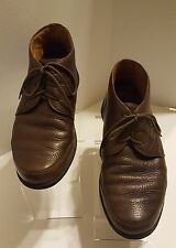 J & M EST. 1850 Men's Brown Sheepskin Ankle Boots/ Shoes Size 10 M