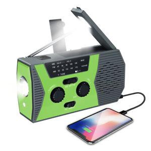 Portable Wind Up Emergency Solar Hand Crank Radio AM/FM LED Flashlight Charger