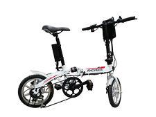 36V250W 14 '' Wheel Electric Bike LED Display Moped Bicycle City E-Bike White