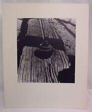16X20 Original B&W Print Photograph Matted Western Interior Signed