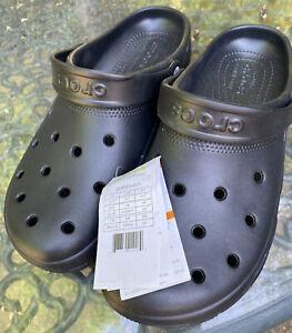 Crocs Mens Black Coast Clog Slip On Sandals Size M 11 (UK 10) BNWT