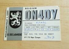Vintage QSL card Radio Belgium ON4DY QSO Mageleinstraat shortwave Ephemera Ham