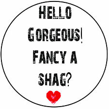 """Funny Rude Round 8"""" Icing Cake Topper Decoration - Hello Gorgeous! Fancy A Shag?"""