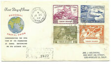 1949 Universal Postal Union Virgin Islands To Los Angeles Registered Fdc