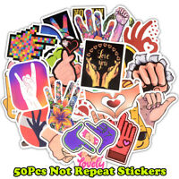 50PCS Gesture Style Skateboard Stickers Bomb Laptop Luggage Decals Dope Sticker