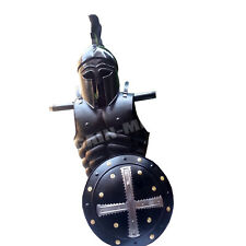 Corinthan Helmet Medieval & Viking Iron Shield  W/ Muscle Jacket Collectible