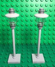 Lego City Town Street Road Light Post Lamp X2 / MOC / Custom Built Parts Lot