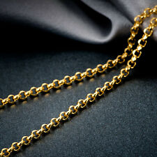 Authentic 18K Solid Yellow Gold Necklace / Men&Women ROLO Cable Chain/ 3g
