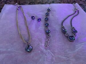 Brighton Blue Gem Jewelry Set