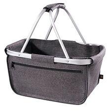 Halfar Filz Shopper Basket Korb Einkaufskorb Alurahmen  Reißverschluss faltbar