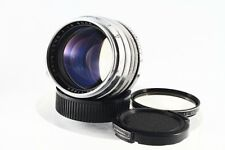 """Canon 50mm F/1.5 chrome Leica LTM 39 Lens,""""Exc++""""w/Filter From Japan#1132"""