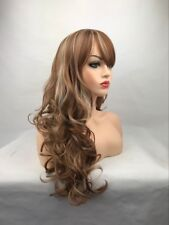 OUJF10606 newest style long health women's Wig blonde mix curly fancy hair wigs