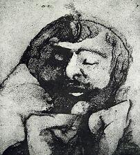 """DDR-arte. """"contemplazione"""". sandreservage Gunter Herrmann (* 1938 D) firmato a mano"""