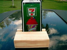 NATURAL WOODEN PINE IPHONE OR ANDROID CELL PHONE HOLDER CRADLE HAND CRAFTED NEW