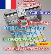 【FR】3040 Desktop Ball Screw Engraver Milling Machine Frame CNC Router 43mm Clamp